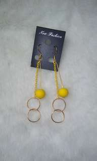 Anting Bola Kuning,Ring
