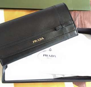Brand New in Box Prada Long Wallet