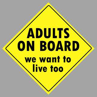 Car Sticker - Adults on Board