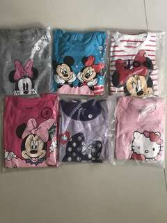 Offer!! (6sets for $40)Cartoon Pajamas For Age 1-2 yrs Old