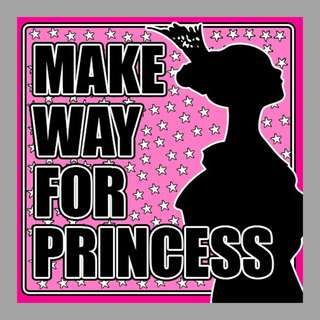 Car Sticker - Make Way For Princess