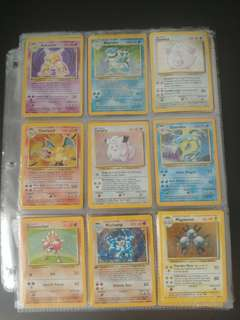 Pokemon TCG base SET COMPLETE 102/102 cards, year 1999.