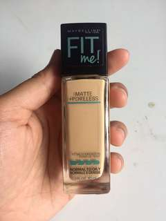 Maybelline Fit Me Foundation Matte and Poreless 128 warm nude