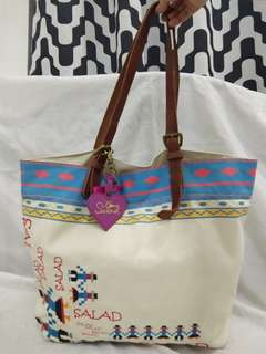 Salad embroidery bag XL