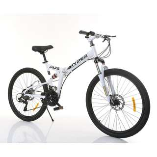 PROMO- Free Delivery-(Full Suspension Bike) Brand new 26 inch Foldable Mountain Bike, 21 Shimano gear/speed,Disk brakes etc.