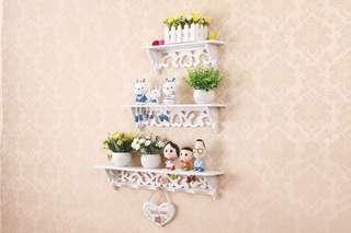 Kode A3 - Dekorasi/rak dinding rumah vintage 1set isi 3pcs