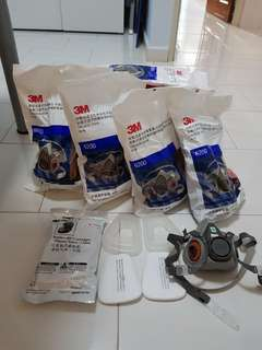 3M Respirator Half Mask Full Set