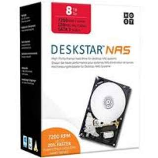 "HGST DeskStar NAS 3.5"" 8TB 7200 RPM 256MB Cache SATA 6.0Gb/s High-Performance Hard Drive for Desktop NAS Systems Retail Packaging 0S04007"