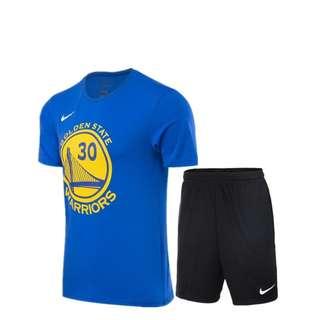 NIKE套裝 新款夏季男生圓領短袖T恤休閒運動褲