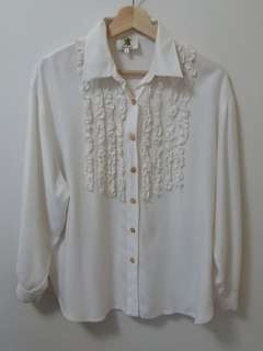 Ruffled Tuxedo Shirt