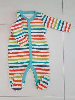 Mothercare Sleepsuit - Stripes (3M)