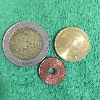 3 coins from Philippines