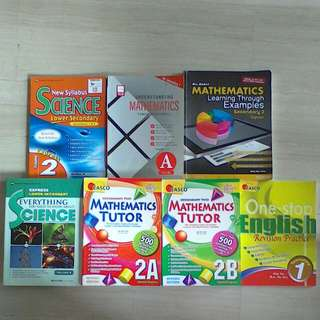 Lower Secondary English, Maths & Science.