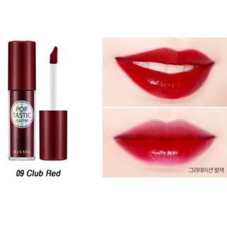 Missha Poptastic Lip Tint in Club Red