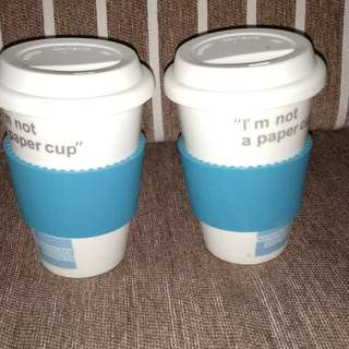 coffee cup with cover lit