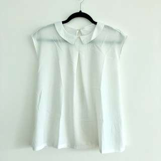 White Blouse with Peter Pan Collar