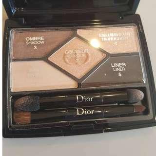 Authentic Christian Dior 5 Colours Designer Eye Shadow Palette - 708 Amber Design