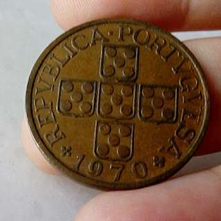 Portugal Coin 1 Escudo 1970 Circulated
