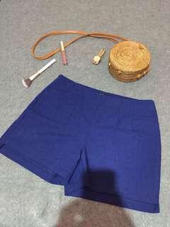 Blue highwaist short