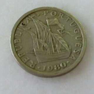 Pre-Euro Portugal 2$50 Coin 1980