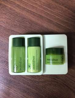 Innisfree Green Tea Balancing skincare trial set BN