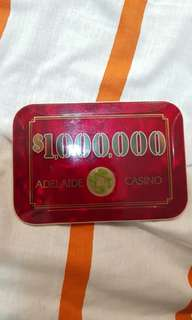 1 million dollar plaque from adelaide casino
