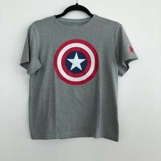 Underarmor Captain America Tee | please read info!!