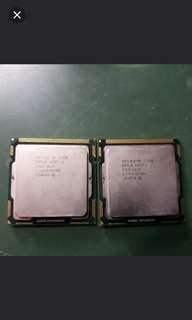 i7~870 2.93ghz i5~750 2.66ghx