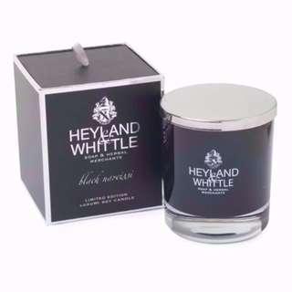 全新包郵 英國手造 Heyland & Whittle Black Narcissi Wax Candle 黑水仙大豆蠟香薰蠟燭 (黑色限量!)