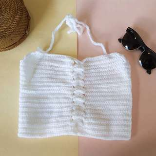 White Crochet Top : Perfect for the Beach!