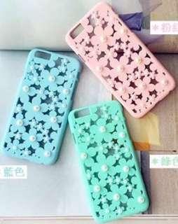 超美立體珍珠花紋iPhone 6+ case