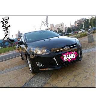 FB搜尋『說書人車庫』專營熱門二手中古車-2014年 FOCUS 5D 黑色2.0