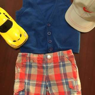 Sale!!! Bundle Mossimo  knitted vest and Garfield short.