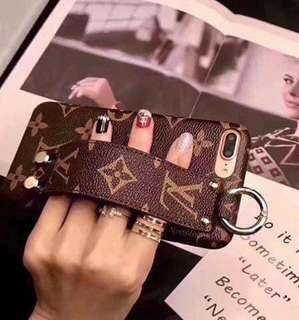 LV case with strap for iphone 6/+ 7/+ 8/+ 10