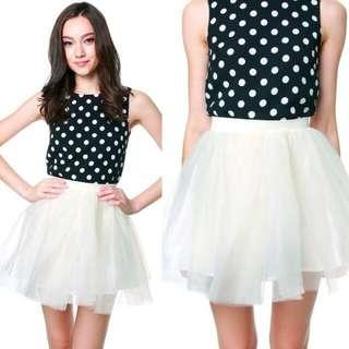 🚚 (FK) MDS Tulle White Skirt
