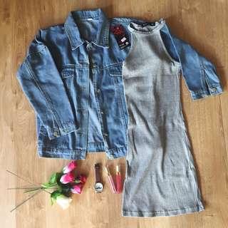 Jacket and tshirt dress