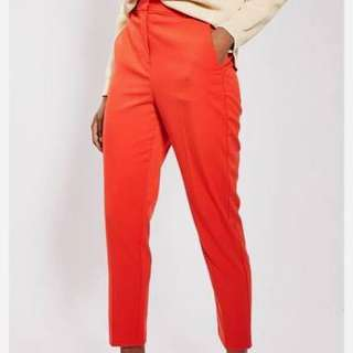 Red Topshop Trousers