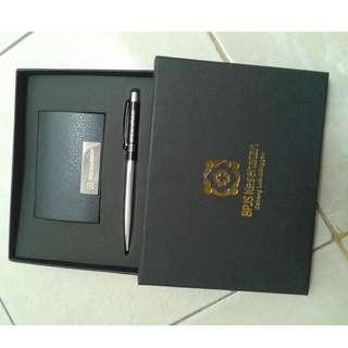 Gift set 2in1 grafir 1sisi + box poly silver