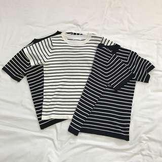 🚚 B52薄款條紋針織短袖