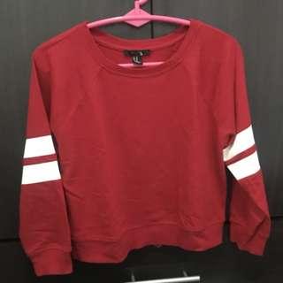F21 Semi crop top Sweater