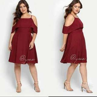 Plus size dress freesize L to XXL