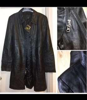 Brand New Genuine leather Long coat jacket  優質 真皮 長身 皮褸  柔軟 輕 長 長褸 乾濕褸 外套luxurious luxury windbreaker chic smart