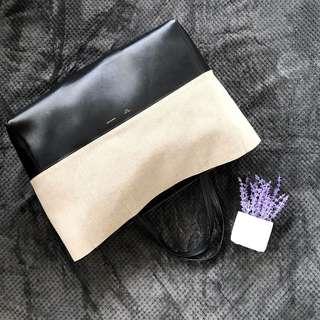Celine Bi - Cabas Two Tone Horizon Tote Bag