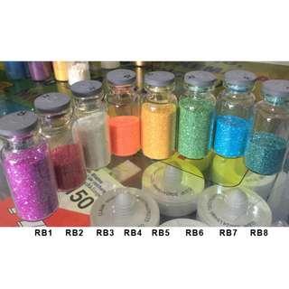 25g Glitter Powder Rainbow Nail Art Eyeshadow Slime Gliter Bubuk