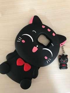 Black Cat Samsung S7 Softcase