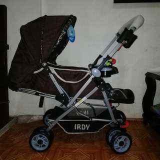 SOLD OUT Irdy Brown Baby Stroller w/ bottle holder