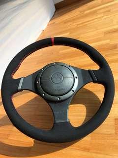 EVO 9 alcantara steering wheel wrapping service