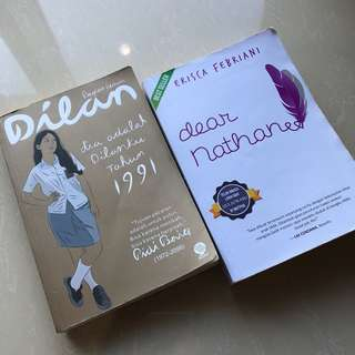 DILAN 1991 & DEAR NATHAN (NOVEL) ORI