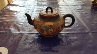 Yixing Zisha Chinese Tea Pot 宜兴紫砂壶-龙凤图