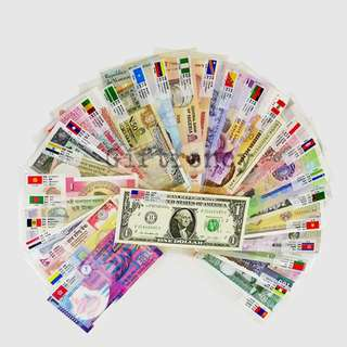 28 Countries 50 Pieces Currency Collection